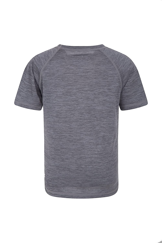 f1c137f54ba29 Zakti Tee-Shirt Enfant uni - T-Shirt léger d'été, T-Shirt à Manches Courtes  pour l'été, T-Shirt Cool Care Facile à Entretenir - pour la Marche  printanière ...