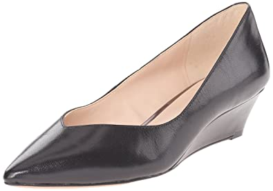 62d1657545df Image Unavailable. Image not available for. Colour  Nine West Elenta  Leather Wedge Pump