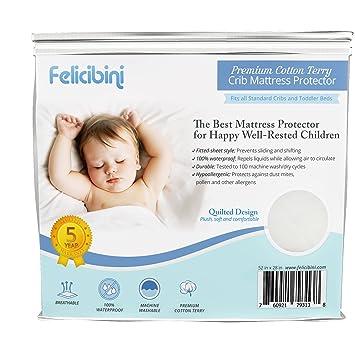 Amazon.com: felicibini bebé Protector de colchón para cuna: Baby