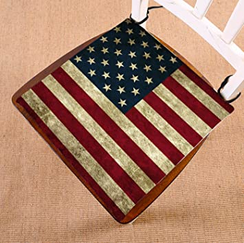Amazon.com: Personalizado bandera americana cojín de silla ...