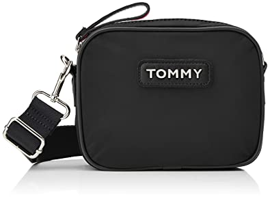 87dbbf42 Tommy Hilfiger Varsity Nlyon Crossover, Women's Cross-Body Bag, Black,  21x6x16 cm