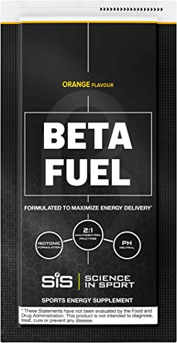 Science in Sport Beta Fuel, Endurance Energy Drink with 80g of Carbohydrates, Isotonic Sports Drink, Orange – 12 Grab and Go Sachets