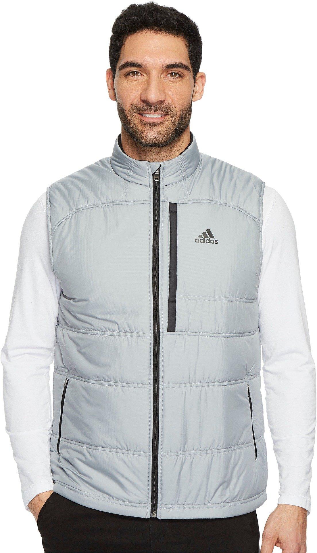 adidas Golf Men's Climaheat Primaloft Full Zip Vest, Mid Grey, XX-Large