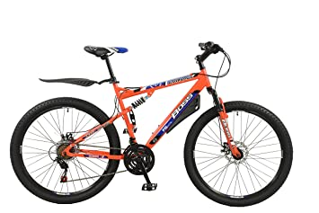 """8801669438a Image Unavailable. Image not available for. Colour: Men's Boss Carnage Dual  Suspension 27.5"""" 650b Mountain Bike 21"""" for Taller ..."""