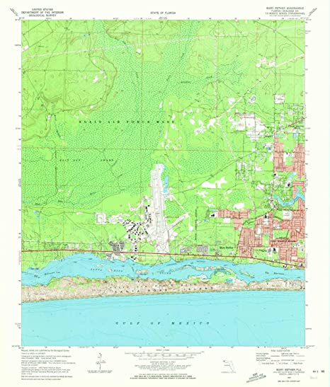 Mary Ester Florida Map.Amazon Com Yellowmaps Mary Esther Fl Topo Map 1 24000 Scale 7 5