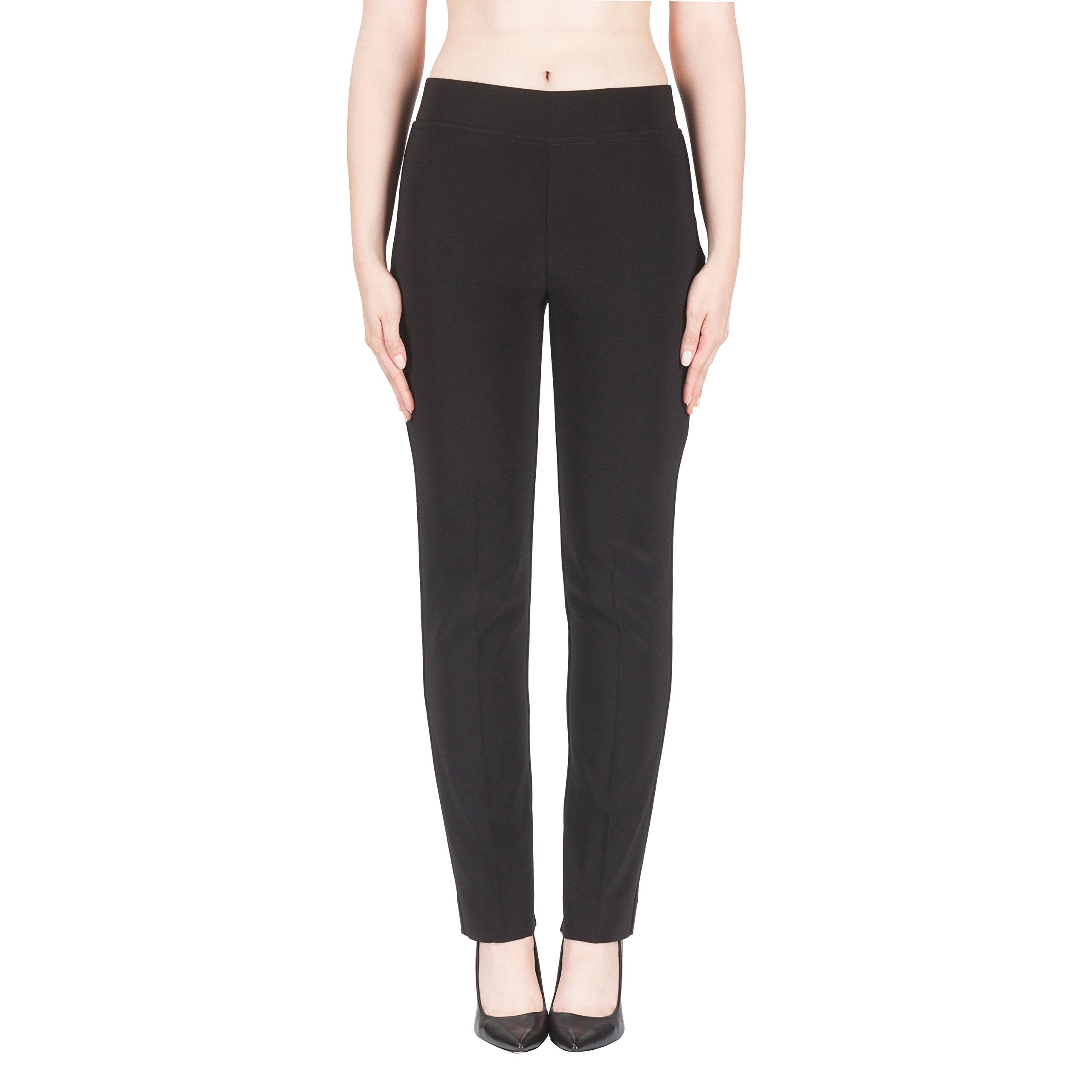 Joseph Ribkoff Black Elastic Waist Pull-on Stretch Pants Style 143105 - Size 4