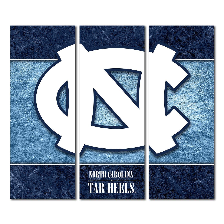 North Carolina Carolina 48x54 TarヒールUNCキャンバス壁アートTriptych二重枠デザイン 48x54 B06WVF6PPJ B06WVF6PPJ, カミイタチョウ:9ccec18c --- ijpba.info