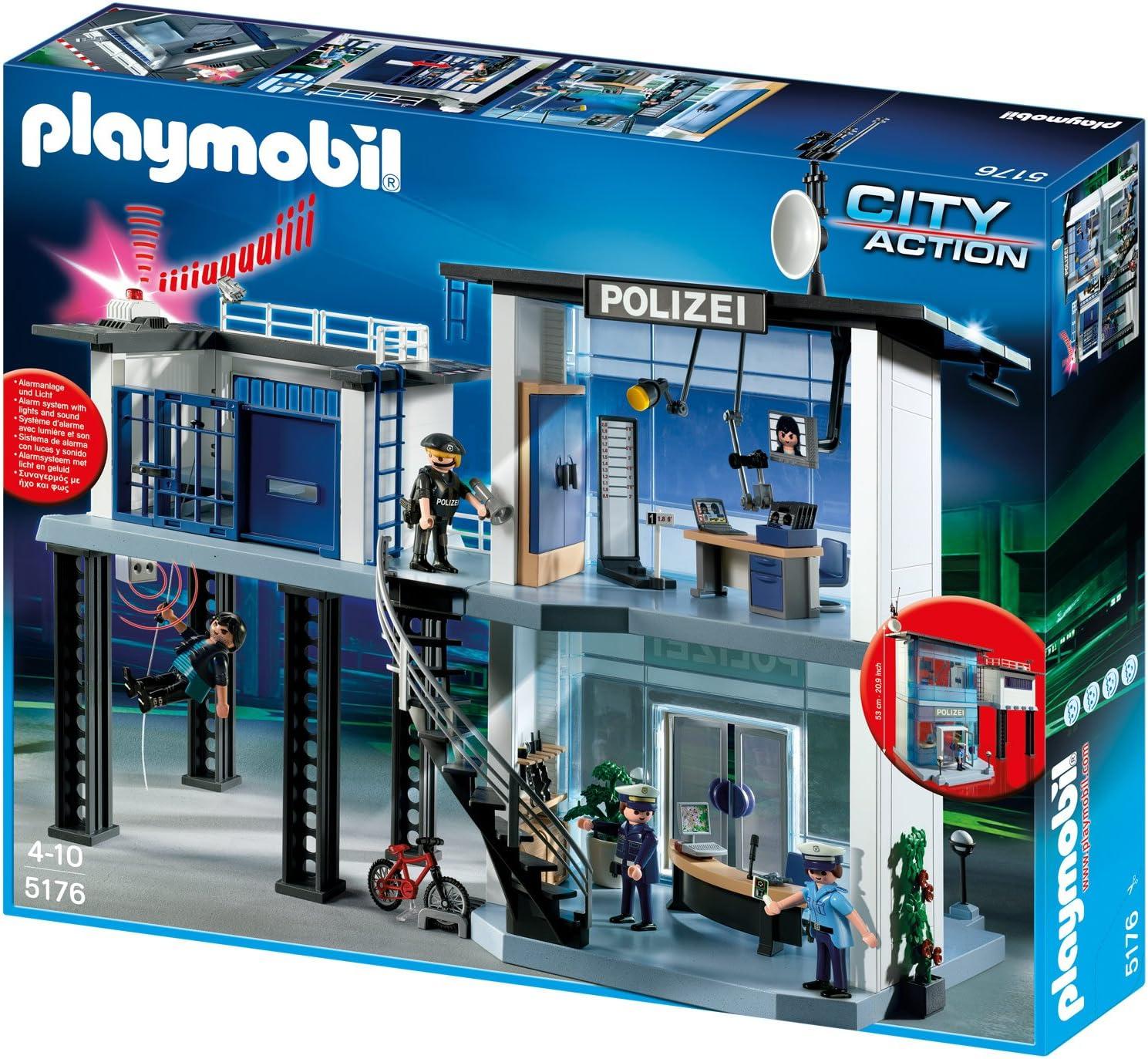 Playmobil City Action - Comisaría de policía con Sistema de Alarma (5182)