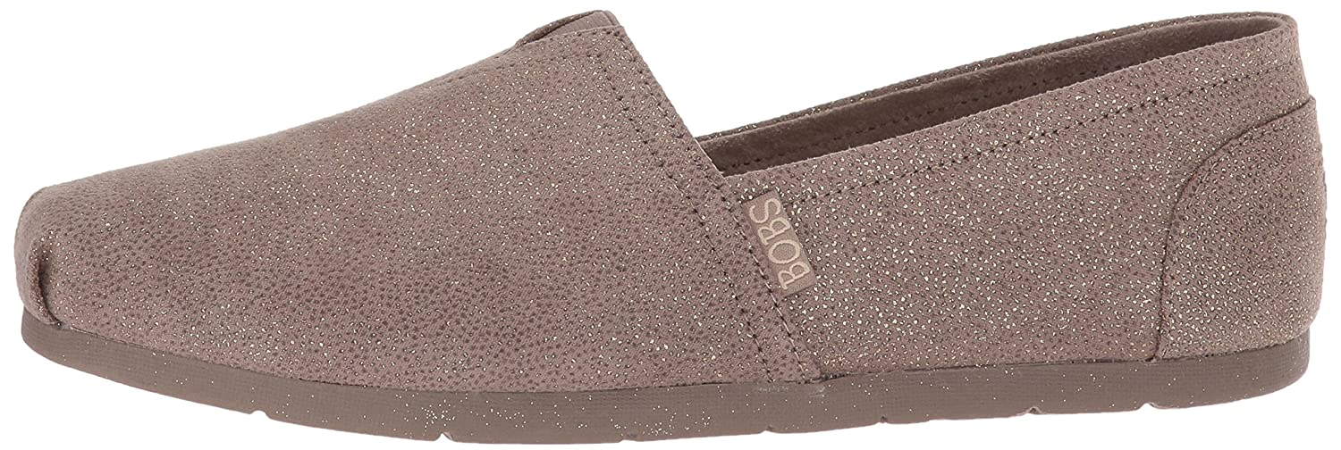 Skechers BOBS from Women's Luxe Bobs-Sparkle Dot Ballet Flat B074KFHGG3 9 M US|Taupe