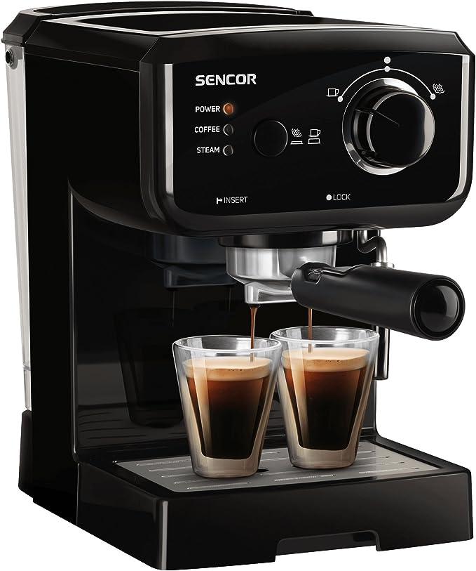 Sencor SES 1710bk Cafetera expreso, color negro: Amazon.es: Hogar