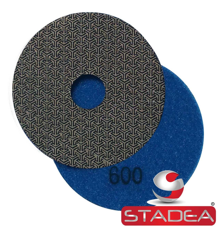 Stadea PPE118 Electroplated Diamond Polishing Pads 4'' Glass Concrete Marble Granite Wet Dry Diamond Fine Sandpaper Tool for Sanding Polishing Surfaces