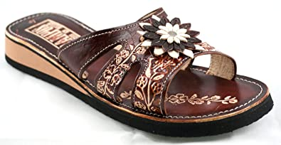 0c30d9827 Rampos MX Womens Mexican Handmade Leather Huaraches Sandals Sandalias Mujer  Mexicano Sahuayo Mexico Tres Tiras (