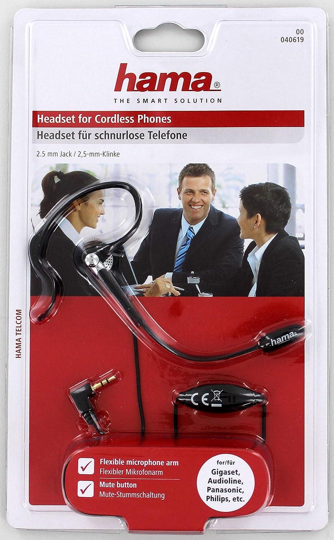 Hama DECT Ergo - Auriculares de clip inalámbricos: Amazon.es: Electrónica