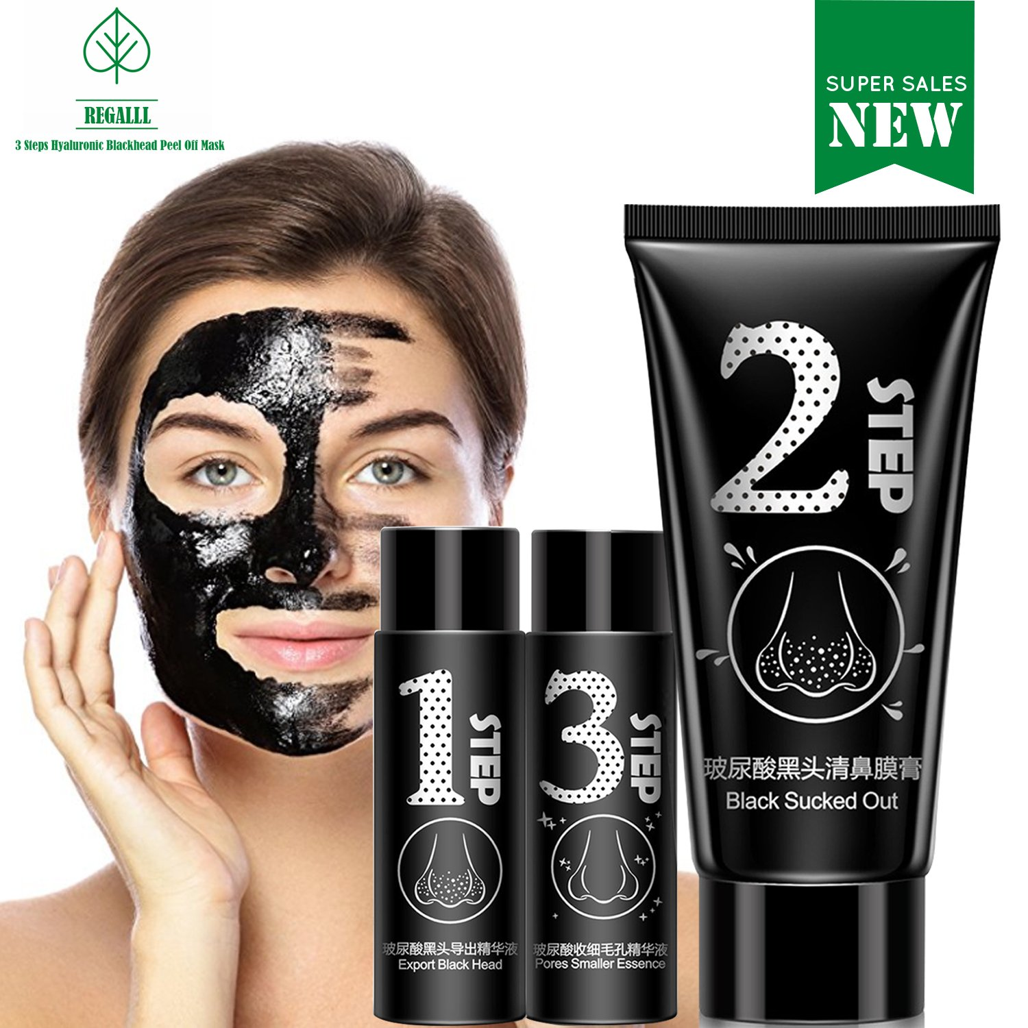 (NEW) Blackhead Remover Mask - Blackhead Peel Off Mask - Activated Charcoal Blackhead Remover –Face Mask, Blackhead Mask - Black Mask Deep Cleaning Facial Mask for Face Nose