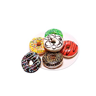 6 Pack Fake Donuts Cake Toys, Perfect for Kids Pretend Play Food Party, Birthday and Wedding Artificial Doughnuts Decorations with Magnets (3.5Inch): Toys & Games
