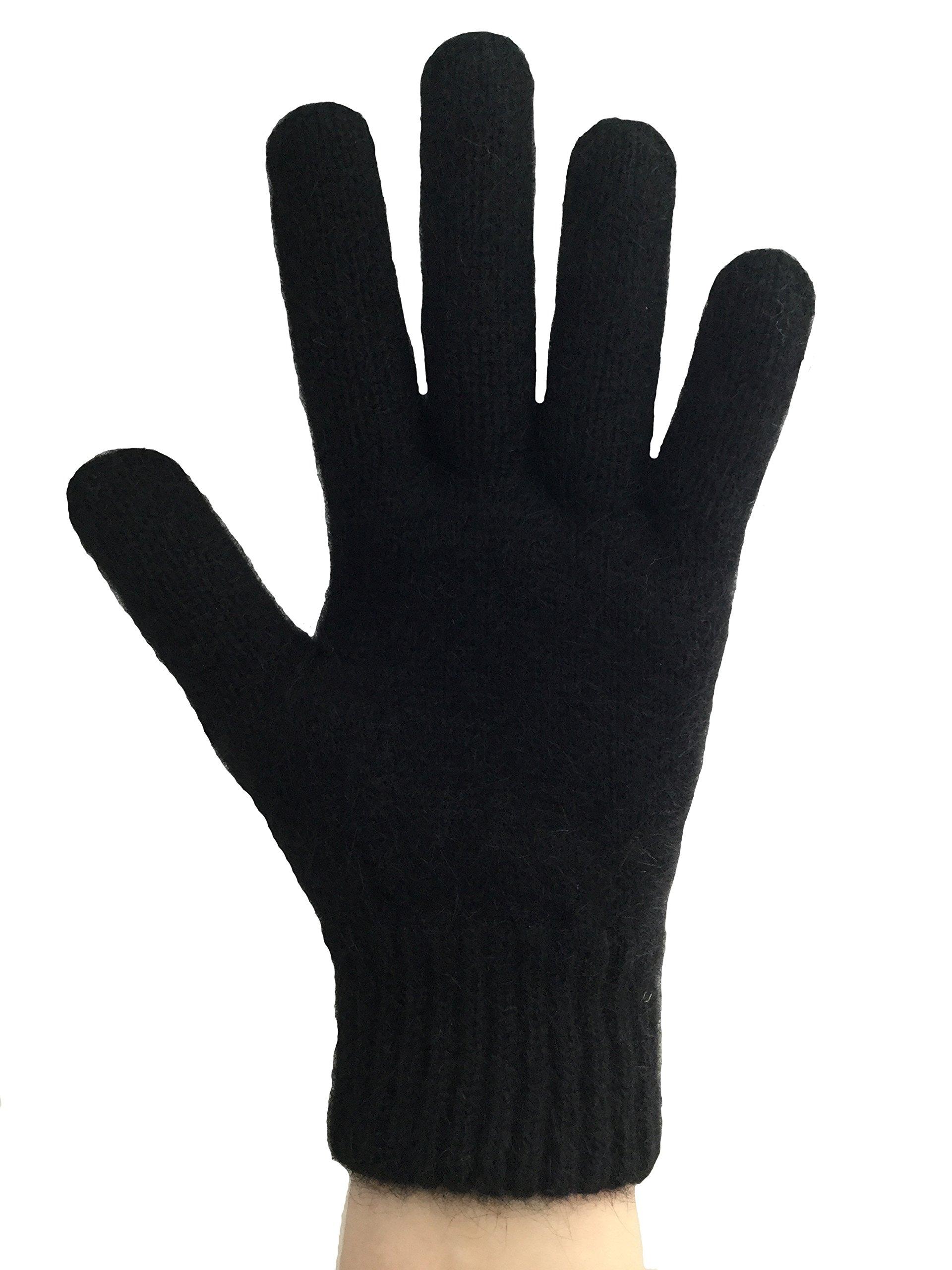 PossumDown Lightweight Brushtail Possum Merino Wool Blend Gloves (XLarge, Black)