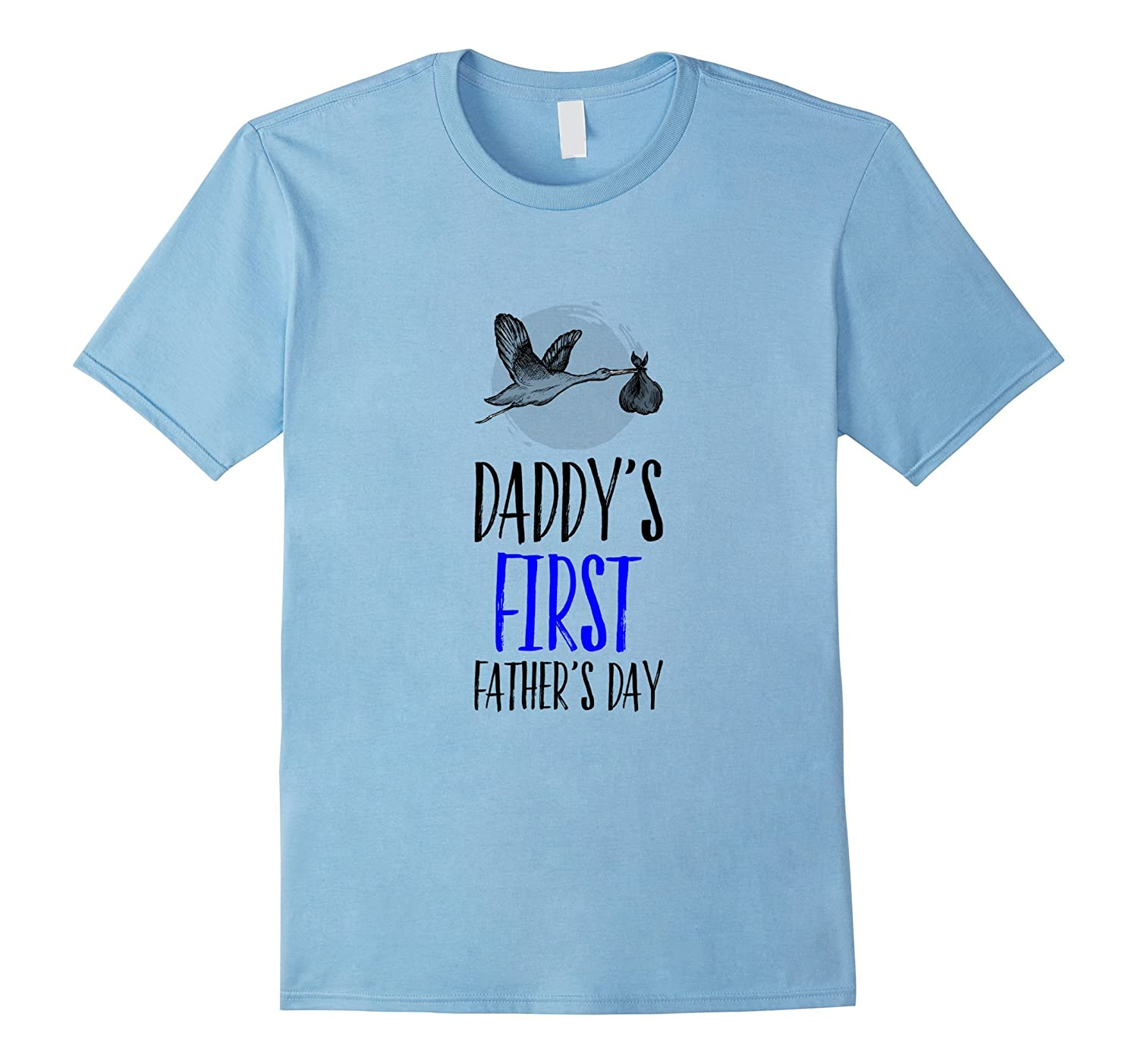 daddys first fathers day stork fathers day tee shirt gift cd canditee