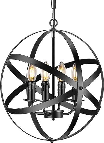 Industrial Pendant Light Vintage Spherical Pendant Lighting