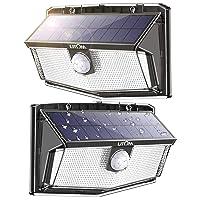 Deals on 2 Pack LITOM 300 LED Solar Motion Sensor Lights Outdoor