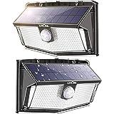 LITOM 300 LED Solar Motion Sensor Lights Outdoor, IP67 Waterproof Solar Powered Security Lights Wireless Solar Wall Lights wi