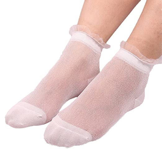 Processes Summer Women Socks Ladies Sheer Silky Glitter Transparent Short Ankle Socks Super Quality Chaussette Femme Meias 1 One Size at Amazon Womens ...