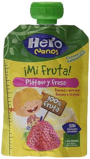 Hero - Bolsita De Fruta Nanos 100 g Plátano Fresa