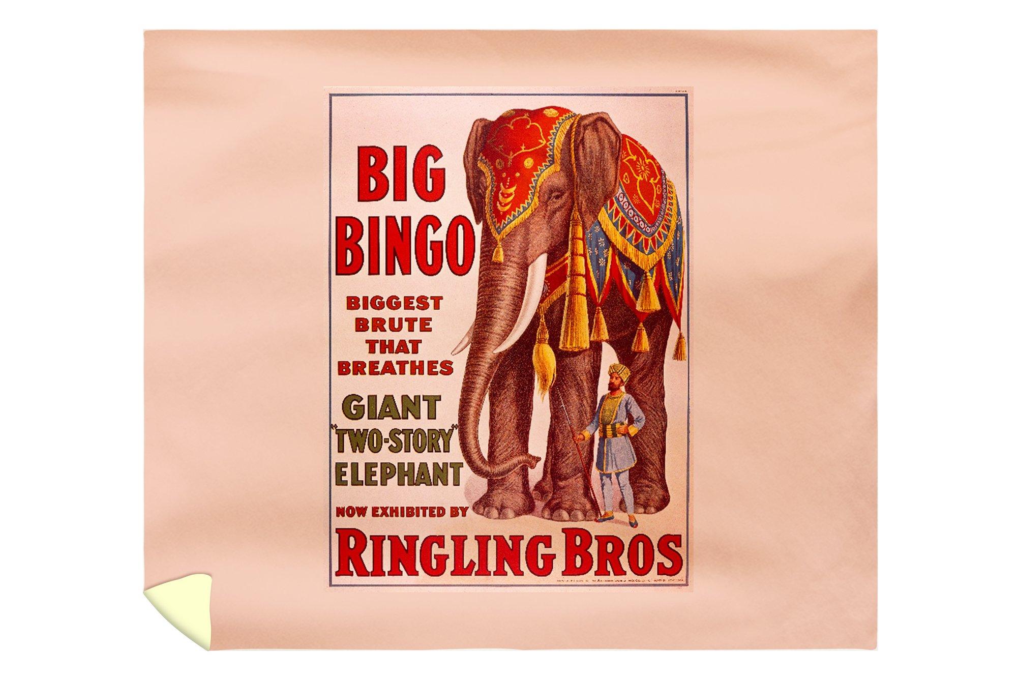 Ringling Bros - Big Bingo Vintage Poster USA c. 1916 (88x104 King Microfiber Duvet Cover) by Lantern Press