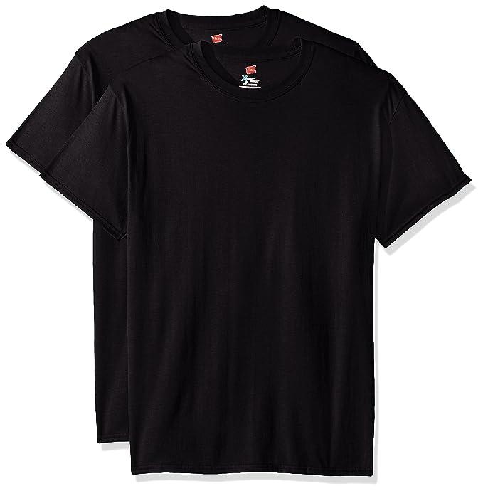 Hanes Men S Short Sleeve X Temp W Fresh Iq T Shirt 2 Pack Black