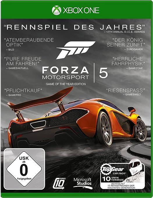 Microsoft Forza Motorsport 5 - Game of the Year Edition - Juego (Xbox One, Racing, Turn 10 Studios, E (para todos), DEU, Básico): Amazon.es: Videojuegos