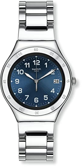 Swatch Reloj Digital de Cuarzo para Mujer con Correa de Acero Inoxidable - YGS474G: Amazon.es: Relojes