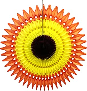 product image for 21 Inch Tissue Paper Fan, 3-Pack (Fall - Orange/Gold/Brown)