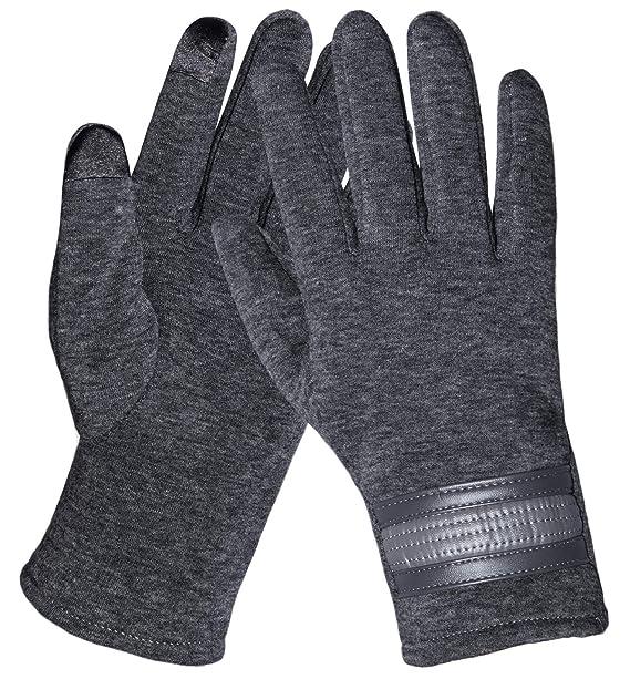 6847acae723a47 Chalier Touchscreen Handschuhe Damen Winterhandschuhe Frauen Fäustlinge  Winter Warme Damenhandschuhe mit Fleecefutter in Schwarz und Grau