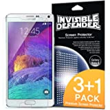 Galaxy Note 4 Screen Protector - Invisible Defender [3+1 Free/MAX HD CLARITY] Lifetime Warranty Perfect Touch Precision High Definition (HD) Clarity Film (4-Pack) for Samsung Galaxy Note 4