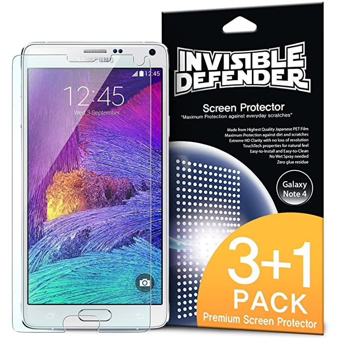 Galaxy Note 4 Protection écran - Invisible Defender  3+1 Flim HD Clarté c04436043404