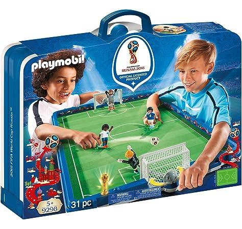 Playmobil Fútbol - Fútbol: Set de fútbol, maletín (4725): Amazon ...