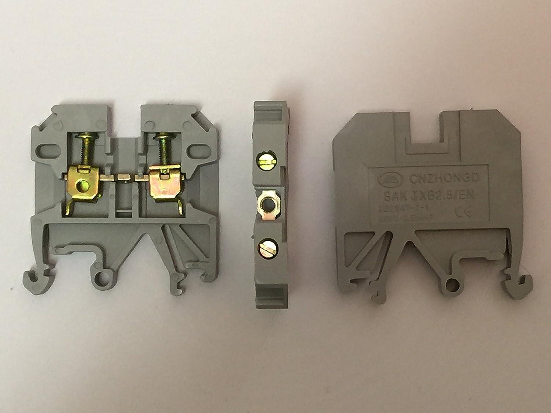 50 bloques terminales para carril DIN bloques universales de JXB 2,5
