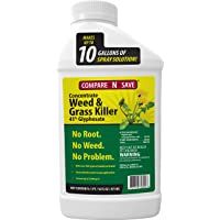 Ragan & Massey 016866 Glyphosate Concentrate Grass and Weed Killer, 16 Oz, 16-Ounce