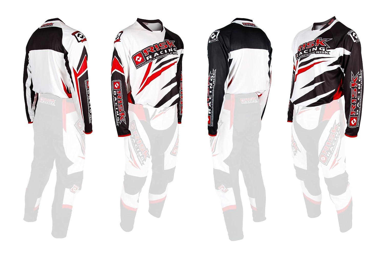 Risk Racing Vector Mx Motocross Jersey White Red Medium Amazon