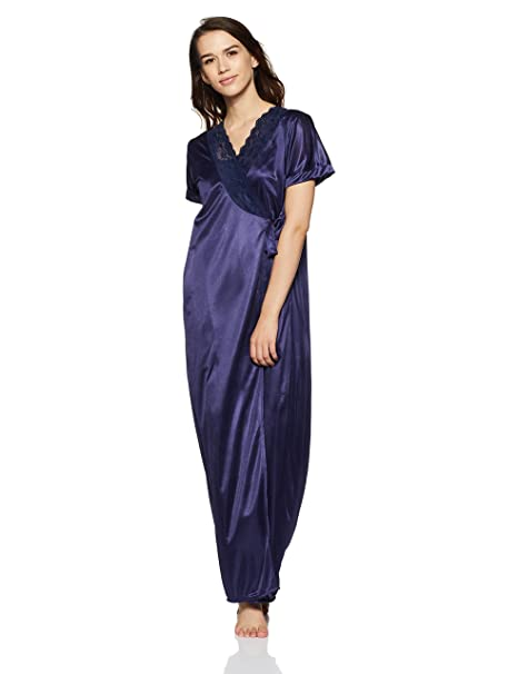 1a56665f04 Clovia Womens 4 Pcs Satin Nightwear in Navy - Robe