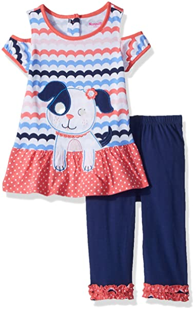 ca9cc9709015 Amazon.com: Nannette Girls' 2 Piece Playwear Legging Set: Clothing