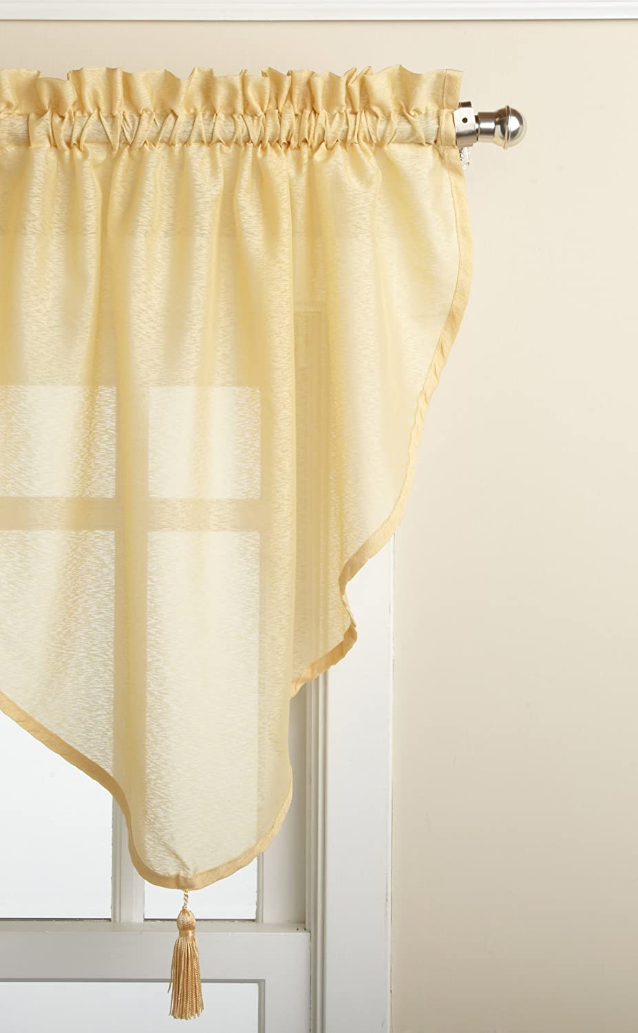 LORRAINE HOME FASHIONS Reverie 40-inch x 25-inch Ascot Valance, Gold