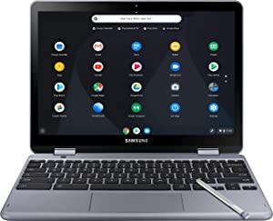 Samsung Chromebook Plus LTE XE525QBB-K01US 12.2 Inch Touchscreen Intel Celeron 3965Y 1.5GHz/ 4GB LPDDR3/ 32GB eMMC/ Chrome Notebook (Stealth Silver)