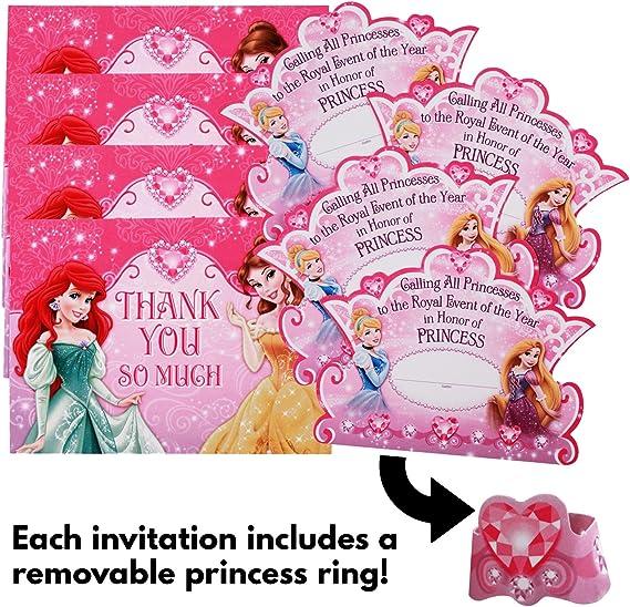 Amazon.com: Disney Princess Dream Party Invitaciones & thank ...