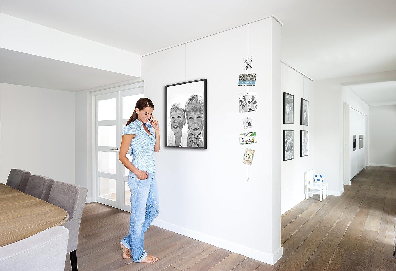 Bilderschienen Galerieschienen 8m Set Verbinder und Endkappen mit Befestigung