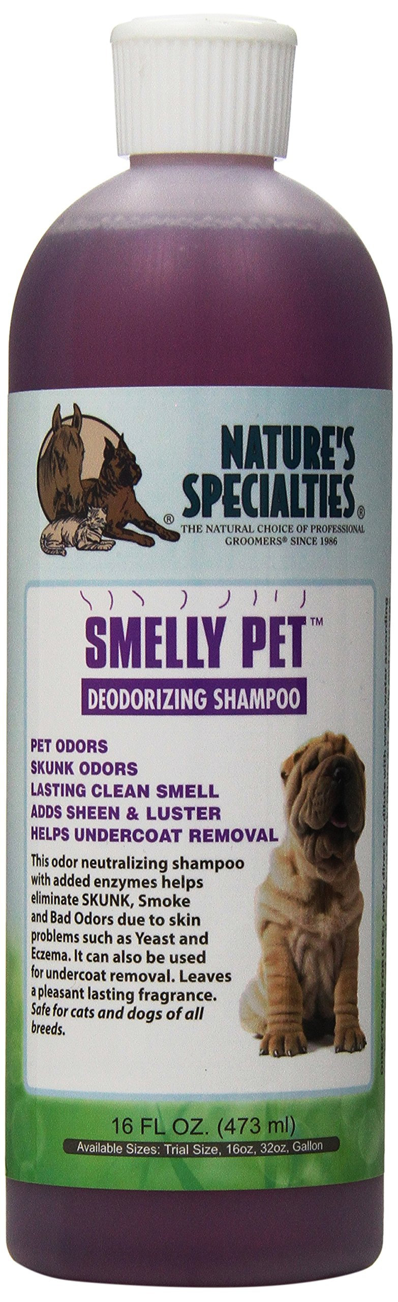 Nature's Specialties Smelly Pet Shampoo, 16-Ounce