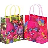"Trolls Dreamworks 12 Premium Quality Party Favor Reusable Medium Plastic Gift Goodie Bags 8"""