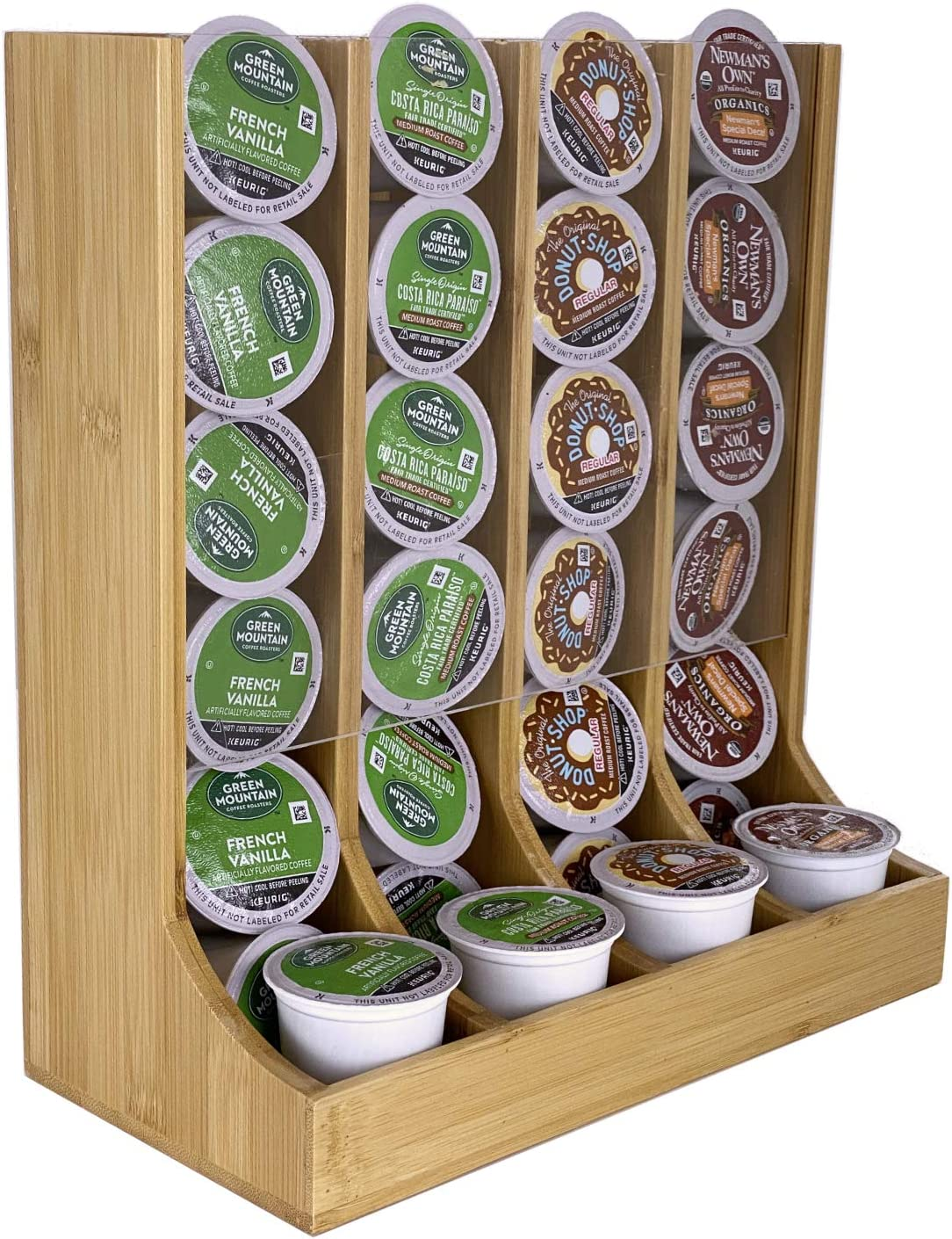 Coffee K Cup Holder Bamboo - Coffee K-cup Pods Organizer For Coffee Station - Coffee Storage - K Cup Organizer For Counter Top Coffee Pod Holder Rack