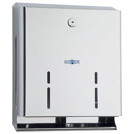 Nofer 05105.s Nova dispensador cuádruple para Papel de baño Inoxidable Satinado Plata 30 x