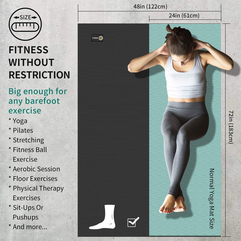 Amazon.com: Cambivo - Esterilla de yoga grande extra gruesa ...