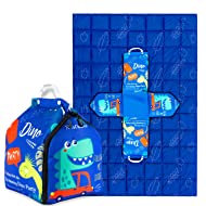 Restwave Kids Weighted Blanket 5 lbs, 36 x 48 inches, Heavy Weighted Blanket for Kids and Toddlers Sleep 100% Cotton with Premium Glass Beads Cute Dinosaur Pattern